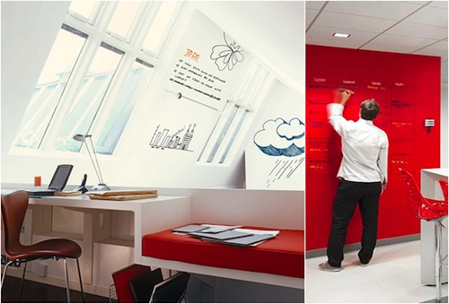 We are using idea paint on all of our walls for a virtual writable surgace